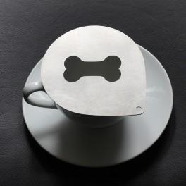 Cappuccino stencil - bone (stainless steel)